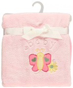 """Big Oshi """"Baby Butterfly"""" Plush Blanket - pink, one size"""