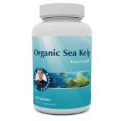 Sea Kelp From Iceland - 100% Certified Organic - 90 Capsules - Natural Iodine & Sea Nutrients - Supports a Healthy Thyroid