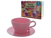 handy helpers Bulk Buys Teacup Cake Moulds, 4-Pack