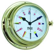 Weems and Plath Endurance II 127.8lz Clock 12 Hour Flag Dial, Brass