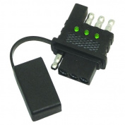 Invincible Marine Trailer Light Circuit Tester, 4-Way In-Line