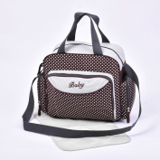 Baby Nappy Nappy Changing Bags Grey/Polka Dots Design 6600