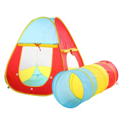 Truedays® 2 in 1 Children's Playground Play Tent House and Tube Tunnel for Kids Great Fun Indoor and Outdoor