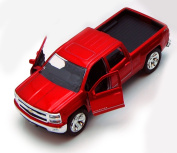 Chevy Silverado Pickup Truck, Red - Jada Toys Just Trucks 97017 - 1/32 scale Diecast Model Toy Car