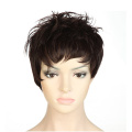 S-noilite UK Short Full Head Wig Cosplay Party Daily Dress Top Quality Synthetic Brown Auburn Mix