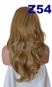 WIG FASHION 60cm Ladies 3/4 Half Fall Wig - Sexy Long Layered Flick Wavy Style - DARK BLONDE #14 - Heat Resistant Synthetic - Clip In Hair Piece Women Extension Z54