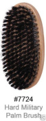 Magic Collection Hard (Round) Palm Brush Natural Boar Bristle Satin Finish Natural Wood Handle #7724