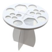 HuntGold Acrylic Makeup Brushes Cosmetic Dryer Holder Stand Organiser Rack Hanger White