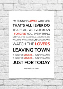 Pete Doherty - For Lovers - Lyrical Song Art Poster - Unframed Print