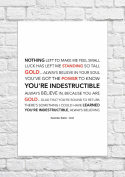 Spandau Ballet - Gold - Lyrical Song Art Poster - Unframed Print