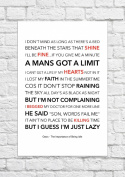 Oasis - The Importance of Being Idle - Lyrical Song Art Poster - Unframed Print