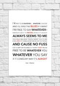 Oasis - Whatever - Lyrical Song Art Poster - Unframed Print
