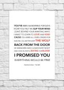 Mumford & Sons - The Wolf - Lyrical Song Art Poster - Unframed Print