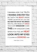 Imagine Dragons - Demons - Lyrical Song Art Poster - Unframed Print