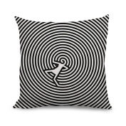wendana Vortex Unique Throw Pillow Covers for Couch Christmas Pillow Covers Zippered Cushion Covers Pillowcase 18 x 18