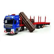 eMart Children Kids Alloy Diecast Model Toy Log Transporter Truck Vehicle Miniature Car Metal 1:50 Gift