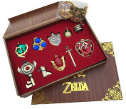 The Legend of Zelda Keychain Necklace Pendant Key Set Collection Gift Box
