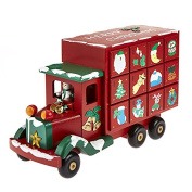 Toy Town Wooden Delivery TRUCK/LORRY Wooden Advent Calender ~ Toy Town Advent Calendar