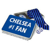 Chelsea FC Tie Cufflinks and Leather Wallet Luxury Gift Set