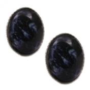 Blue John (Derbyshire) - Silver Stud Earrings
