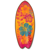 Colourful Hibiscus - Large Surfboard