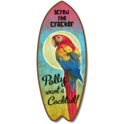 Polly Want A Cocktail - Large Surfboard