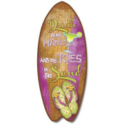 Toes In The Sand - Large Surfboard