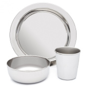 Stainless Steel Dish Set for Kids by HumanCentric