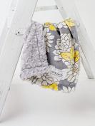 Grey Yellow Floral/Grey Swirl Cuddle