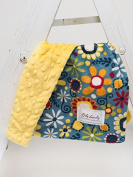 Baby Laundry Patterned Baby Blanket for Boys Girls - Daisy Blue/Sunshine Bump Cuddle