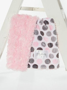 Baby Laundry Patterned Baby Blanket for Boys Girls - Pink Dot/Pink Swirl Cuddle