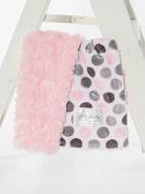 Baby Laundry Pink Dot/Pink Swirl Cuddle Blanket 46cm x 33cm