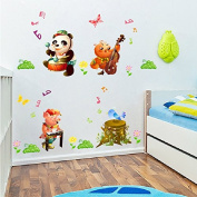 Animals Concert Panada Pig Bee Bird Vinyl Wall Decal PVC Home Sticker House Paper Painting Decoration Wallpaper Living Room Bedroom Kitchen Art Picture DIY Murals Kids Nursery Baby Decor
