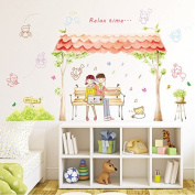 Trees Bees Vinyl Wall Decal PVC Home Sticker House Paper Painting Decoration Wallpaper Living Room Bedroom Kitchen Art Picture DIY Murals Kids Nursery Baby Decor