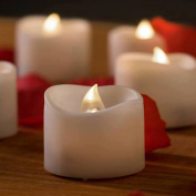 Decor Hut LED Candles ,Set of 24, Party Decor, Holiday and Romance! Battery Operated. Smokeless Flame Less Candles