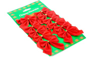 Km Christmas Decorations Snowflake Bow Per Pack of 12