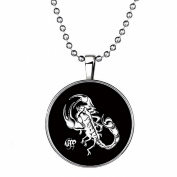 Stayoung Jewellery The Scorpion King Silver Plated Luminous Time Gem Men's Gothic Biker Crawling Scorpion Pendant Chain Necklace for Women