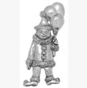 Gift Boxed Pewter Clown Badge pin or Brooch Gift for Scarf, Tie, Hat, Coat or Bag