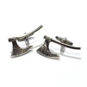 Antique Finish Viking Battle Axe Cufflinks