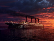 TITANIC ARTIST IMPRESSION GLOSSY PHOTO PRINT