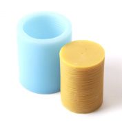 Ridged Cylinder Silicone Mould