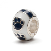 Penn State Nittany Lions Round Paw Bead Charm