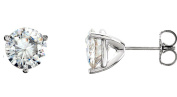 Forever Classic Gorgeous! Polished 14k White-gold 6.00MM Earring