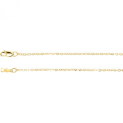 14K Y Gold Thin Cable Chain 60cm 1.26gr