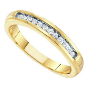 10K Yellow Gold .13ct Diamond Band Stackable Ring size 7