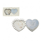 Silver Plated Blue 'Prince' Heart Photo Frame Gift Set