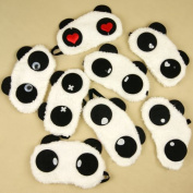 Cute Panda Eye Cover Sleep Mask (2-Pack for Him and Her) by Global Care Market®