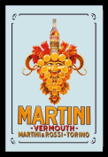 Empire 552051 Printed Mirror with Plastic Frame with Wood Effect Featuring Martini Grapes Advert 20 x 30 cm