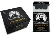 Zekes Beard Wipes - Bundle Pack (10 Pack + 30 Pack, Unscented) Mobile Beard Bath Cleans and Condition - Best Mobile Beard Wipes - Like Beard Oils, Balms Or Conditioners