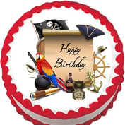 Pirate Birthday Edible Cake Topper